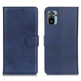 Luxe Book Case Xiaomi Redmi Note 10 Hoesje - Blauw