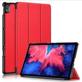 Tri-Fold Book Case Lenovo Tab P11 Hoesje - Rood