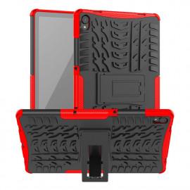 Rugged Kickstand Lenovo Tab P11 Hoesje - Rood