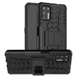 Rugged Kickstand Motorola Moto G9 Plus Hoesje - Zwart