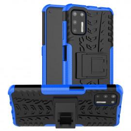 Rugged Kickstand Motorola Moto G9 Plus Hoesje - Blauw
