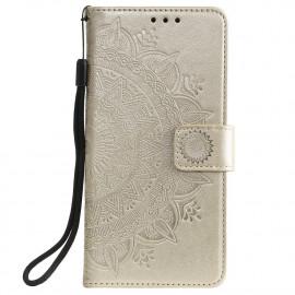 Bloemen Book Case Motorola Moto G30 Hoesje - Goud