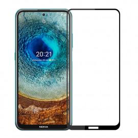 Full-Cover Tempered Glass Nokia X10 - Zwart