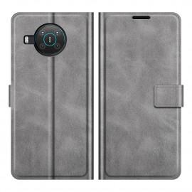 Book Case Deluxe Nokia X10 / X20 Hoesje - Grijs