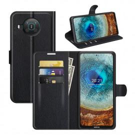 Book Case Nokia X10 Hoesje - Zwart