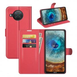 Book Case Nokia X10 Hoesje - Rood