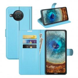 Book Case Nokia X10 Hoesje - Lichtblauw