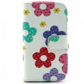 Portefeuille Hoesje Samsung Galaxy S3 Mini - Bloemen