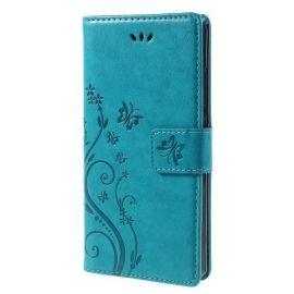 Book Case Hoesje Bloemen Huawei P8 Lite - Blauw