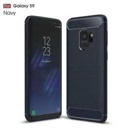 Armor Brushed TPU Case Samsung Galaxy S9 - Blauw