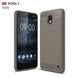 Armor Brushed TPU Case Nokia 2 - Grijs