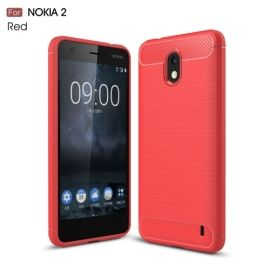 Armor Brushed TPU Case Nokia 2 - Rood