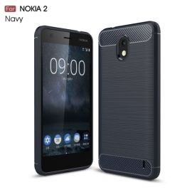 Armor Brushed TPU Case Nokia 2 - Blauw