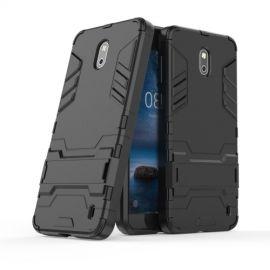 Armor Hybrid Kickstand Case Nokia 2 - Zwart