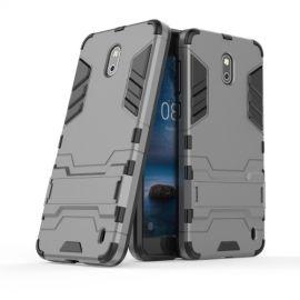 Armor Hybrid Kickstand Case Nokia 2 - Grijs