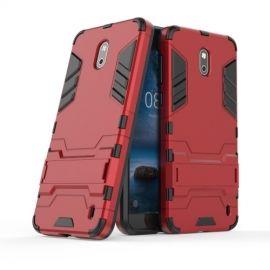 Armor Hybrid Kickstand Case Nokia 2 - Rood