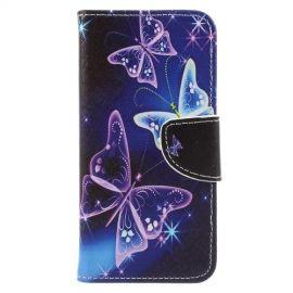 Book Case Hoesje Samsung Galaxy A8 (2018) - Vlinders