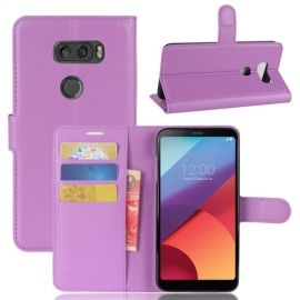 Book Case Hoesje LG V30 - Paars