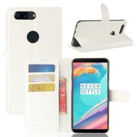 Book Case Hoesje OnePlus 5T - Wit