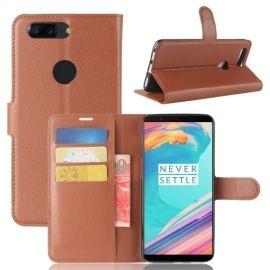 Book Case Hoesje OnePlus 5T - Bruin