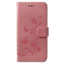 Book Case Hoesje Bloemen Samsung Galaxy S9 Plus - Pink