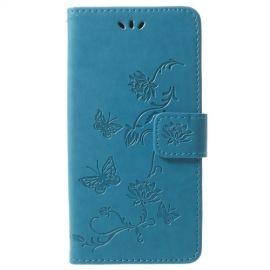 Book Case Hoesje Bloemen Samsung Galaxy S9 - Blauw