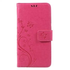 Book Case Hoesje Bloemen Huawei P8 Lite (2017) - Roze