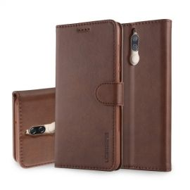 Luxe Book Case Huawei Mate 10 Lite - Donkerbruin