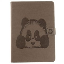 Book Case Hoesje Panda iPad (2018) / (2017) - Grijs