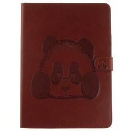 Book Case Hoesje Panda iPad (2018) / (2017) - Bruin
