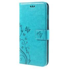 Book Case Hoesje Bloemen iPhone 6 / 6s - Blauw