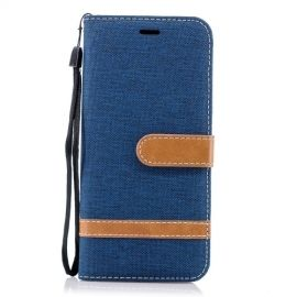 Book Case Hoesje Denim Samsung Galaxy S9 - Blauw