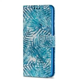 Shiny Book Case Samsung Galaxy S9 - Leaves