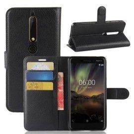 Book Case Hoesje Nokia 6.1 (2018) - Zwart