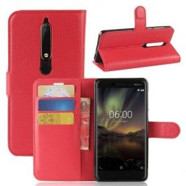 Book Case Hoesje Nokia 6.1 (2018) - Rood