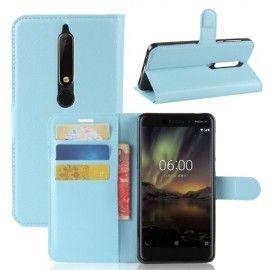 Book Case Hoesje Nokia 6.1 (2018) - Lichtblauw