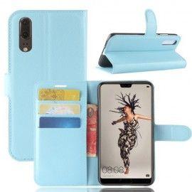 Book Case Hoesje Huawei P20 - Lichtblauw
