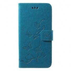 Book Case Hoesje Bloemen Huawei P20 Pro - Blauw