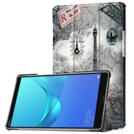 Tri-Fold Book Case Huawei Mediapad M5 8.4 - Eiffeltoren