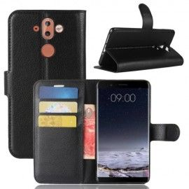 Book Case Hoesje Nokia 8 Sirocco - Zwart