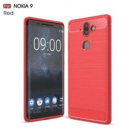 Armor Brushed TPU Hoesje Nokia 8 Sirocco - Rood