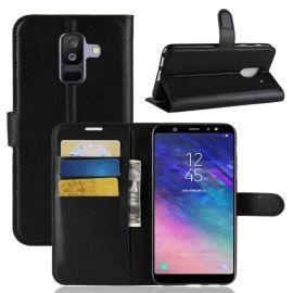 Book Case Hoesje Samsung Galaxy A6 Plus (2018) - Zwart