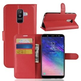 Book Case Hoesje Samsung Galaxy A6 Plus (2018) - Rood