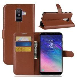 Book Case Hoesje Samsung Galaxy A6 Plus (2018) - Bruin