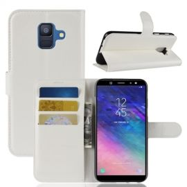 Book Case Hoesje Samsung Galaxy A6 (2018) - Wit