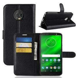 Book Case Hoesje Motorola Moto G6 Plus - Zwart