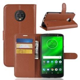 Book Case Hoesje Motorola Moto G6 Plus - Bruin