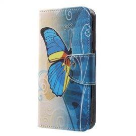 Book Case Samsung Galaxy J3 (2017) Hoesje - Blauwe Vlinder