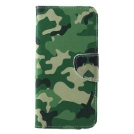 Book Case Samsung Galaxy A6 Plus (2018) Hoesje - Camouflage