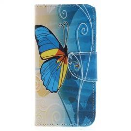 Book Case Samsung Galaxy J6 (2018) Hoesje - Blauwe Vlinder